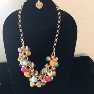 Betsy Johnson multicolored beaded necklace